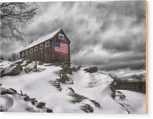 Greyledge Farm After The Storm Wood Print