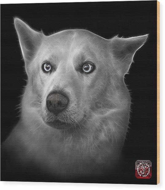 Greyscale Mila - Siberian Husky - 2103 - Bb Wood Print