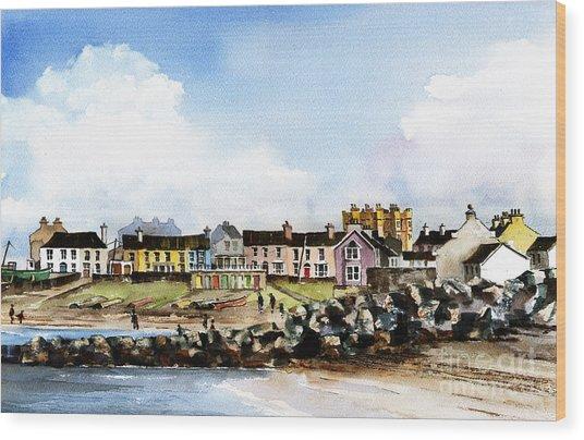 Greystones North Beach  Wicklow Wood Print