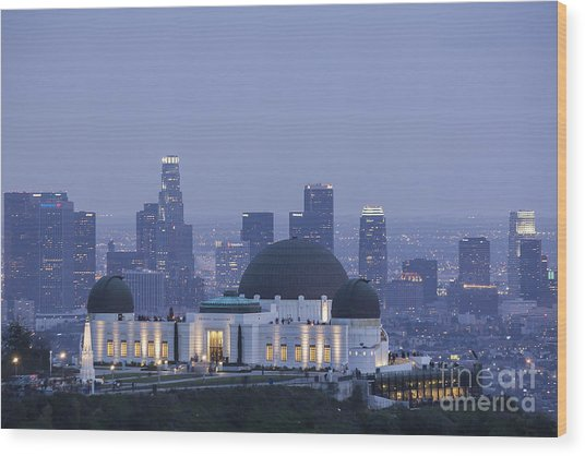Griffith Observatory Los Angeles Wood Print
