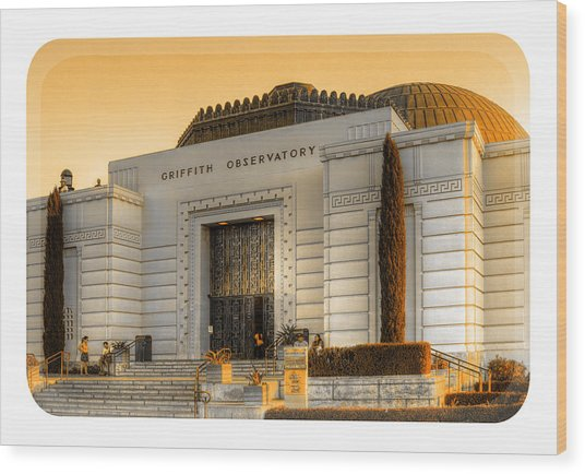 Griffith Observatory - Mike Hope Wood Print