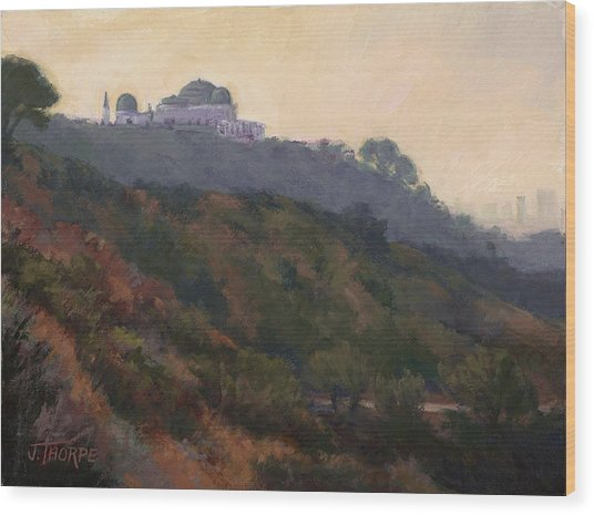 Griffith Park Observatory- Late Morning Wood Print