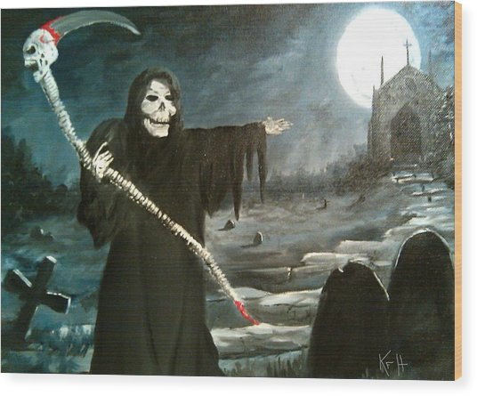 Grim Creeper Wood Print
