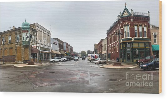 Grinnell Iowa - Downtown - 05 Wood Print