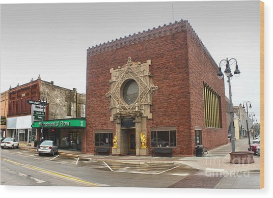Grinnell Iowa - Louis Sullivan - Jewel Box Bank - 02 Wood Print