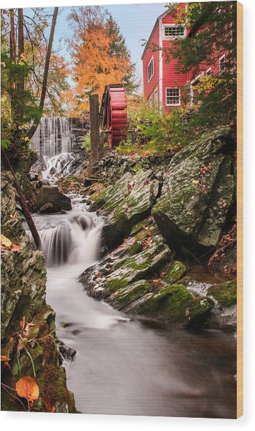 Grist Mill-bridgewater Connecticut Wood Print