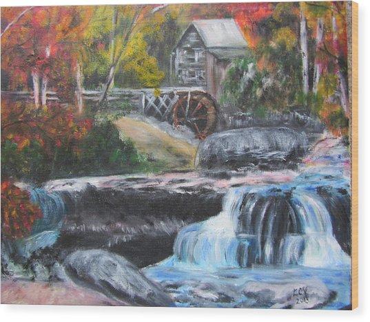 Grist Mill In West Virginia Wood Print