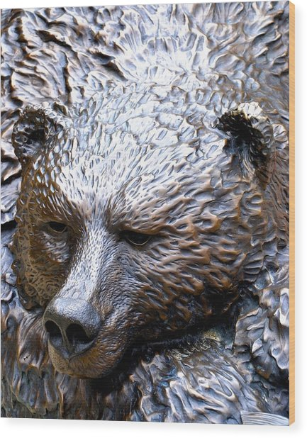 Grizzly Wood Print