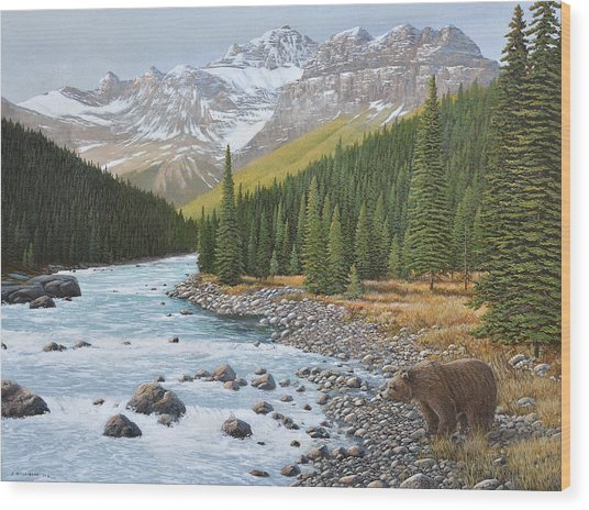 Grizzly Rapids Wood Print