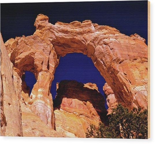 Grosvenor Arch Sunset Kodachrome Basin Wood Print