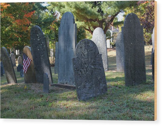 Groton Cemetery 3 Wood Print by Mary Bedy