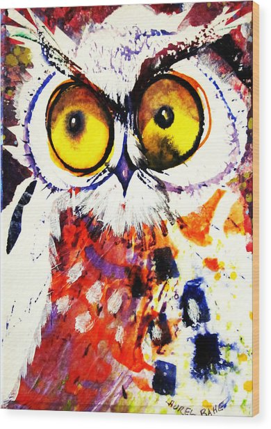 Groucho Owl Wood Print