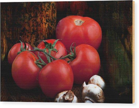 Group Of Vegetables Wood Print