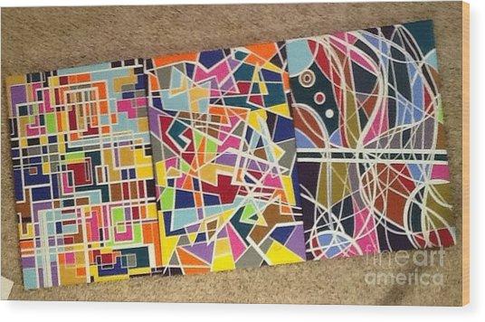 Groupe Of Three Wood Print