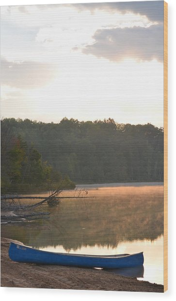Grousehaven Lake - Rifle River State Park Wood Print by Jennifer  King