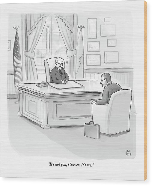 Grover Norquist Is Let Off By A Republican Boss Wood Print