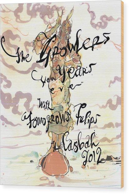 Growler Poster Wood Print