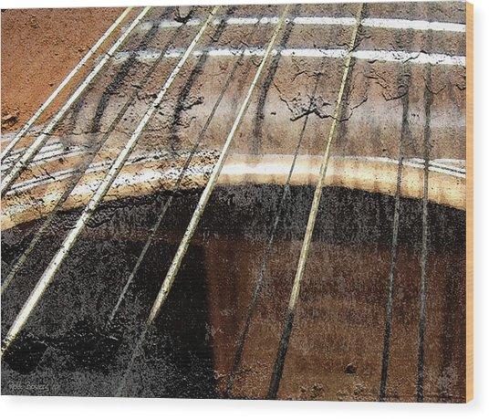 Grunge Guitar Wood Print