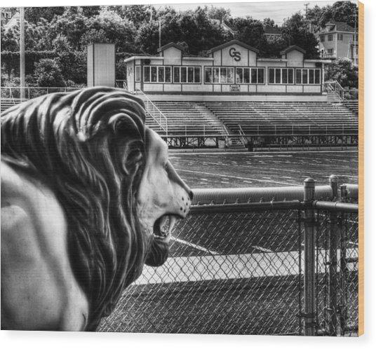 Gshs Lion Wood Print
