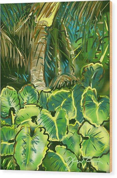 Guanabana Tropical Wood Print