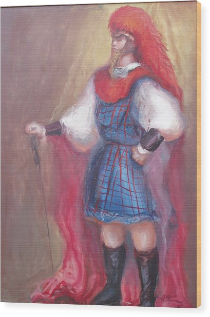 Guard Stance Wood Print by Patricia Kimsey Bollinger
