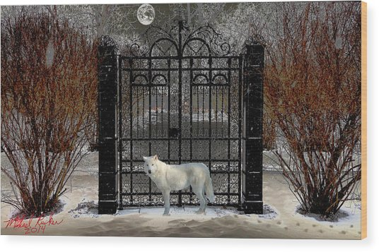 Guardian Of The Gate Wood Print