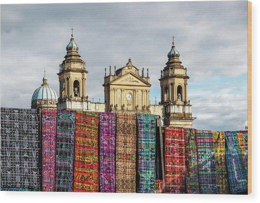 Guatemala City Cathedral Wood Print