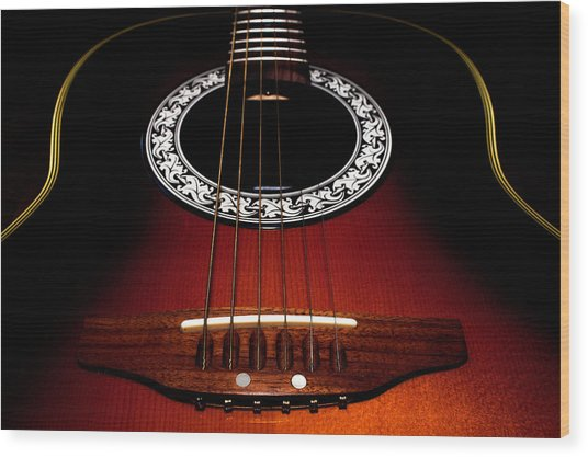 Guitar Abstract Wood Print