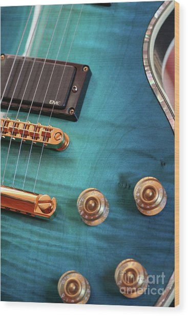 Guitar Blues Wood Print