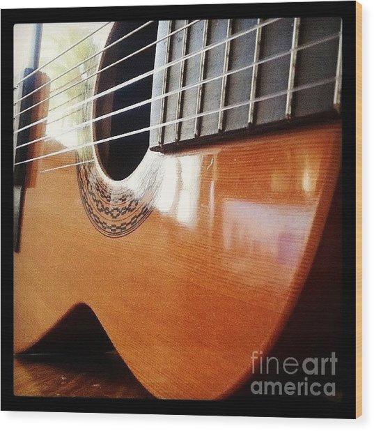 #guitar #music #musicalinstrument Wood Print