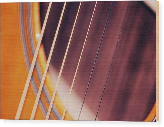 Guitar One Wood Print
