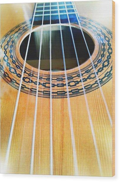 Guitar Wood Print