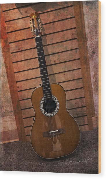 Guitar Solo Wood Print