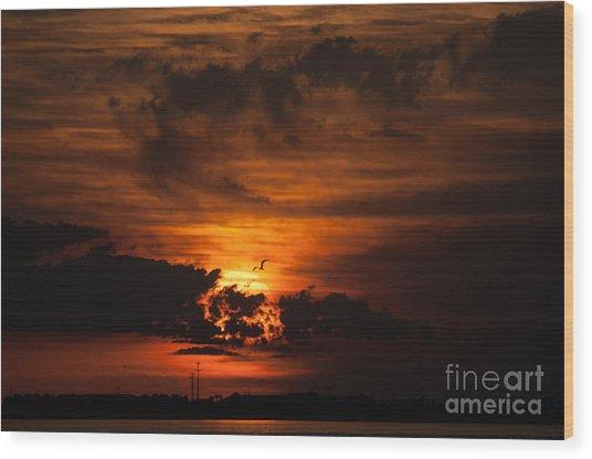 Gulf Coast Sunset 1 Wood Print