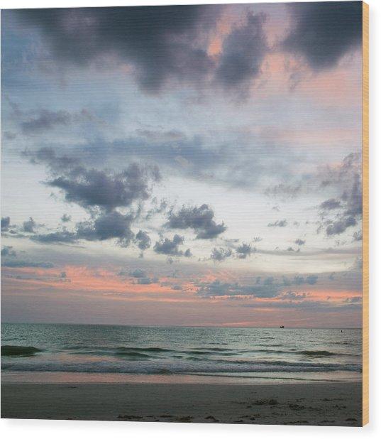 Gulf Of Mexico Sunset Wood Print