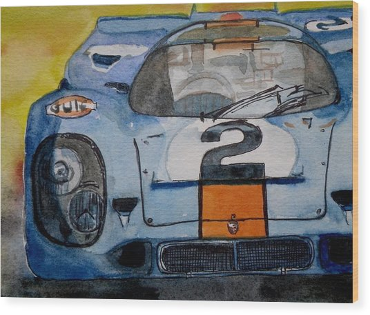 Gulf Porsche Wood Print