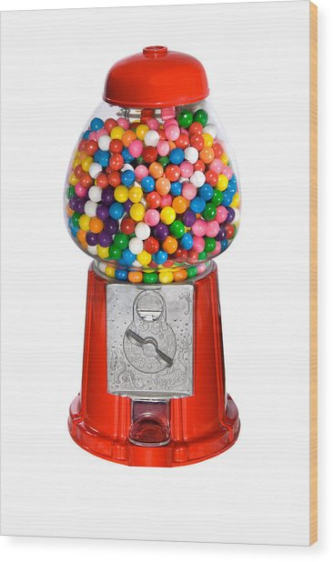 Gumball Vending Machine Wood Print