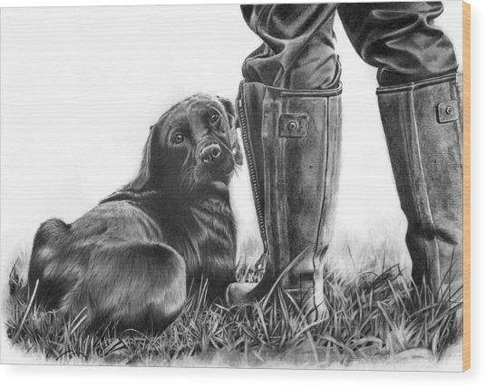 Gun Dog Wood Print