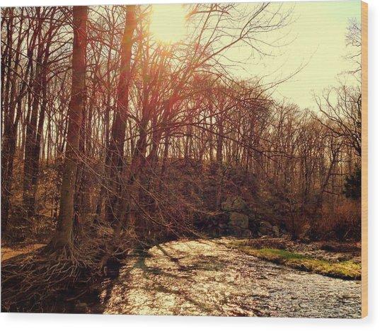 Gunpowder River Wood Print