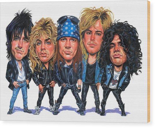 Guns N' Roses Wood Print