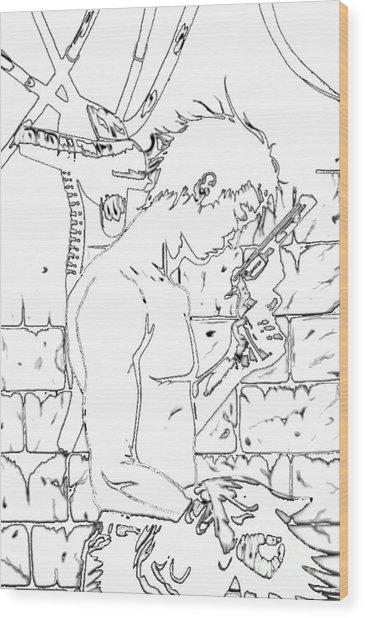 Gunslinger Born Iced Edition Wood Print