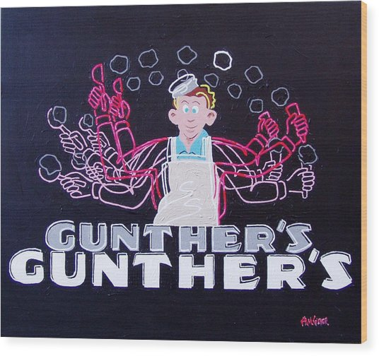 Gunthers Number 5 Wood Print by Paul Guyer