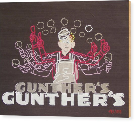 Gunther's Wood Print