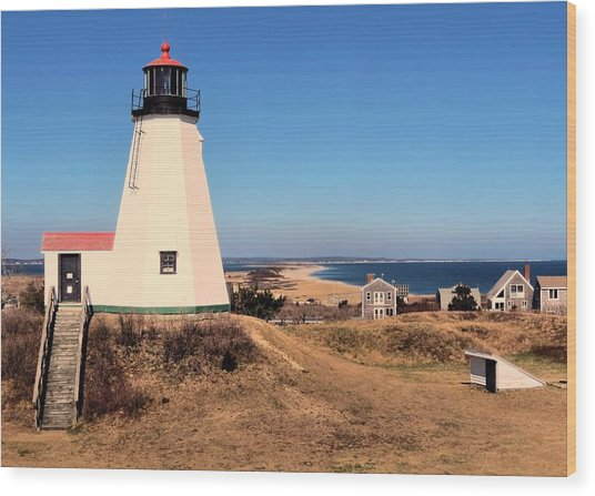 Gurnet Lighthouse Wood Print