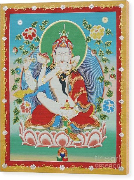 Guru Rinpoche Yab Yum Wood Print
