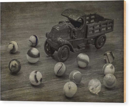 Gus's Truck Wood Print