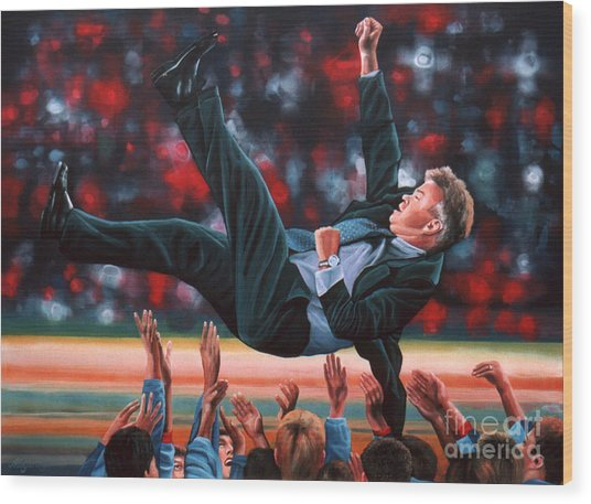 Guus Hiddink Wood Print