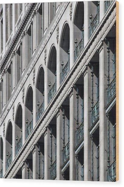 Gwynne Building Exterior Wood Print
