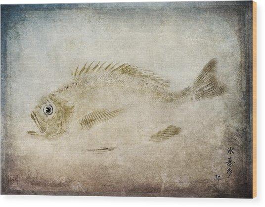 Gyotaku Fish Rubbing Japanese Wood Print