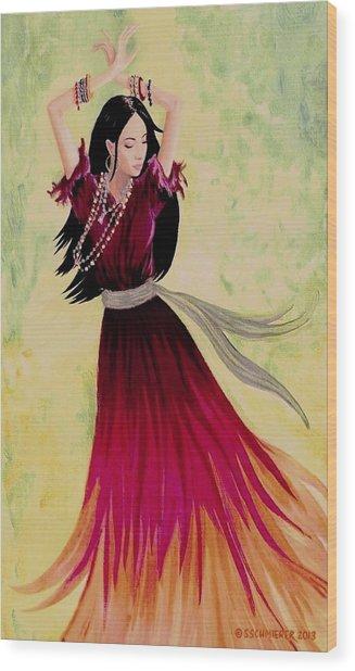 Gypsy Dancer Wood Print